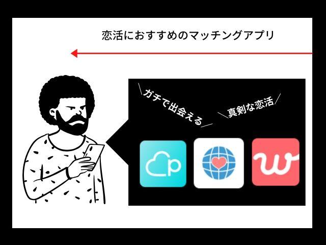恋活におすすめのマッチングアプリ3選